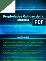 Clase - Propiedades Ópticas de La Materia