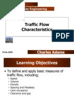 Traffic Flow Characteristics I