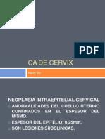 CA de Cervix