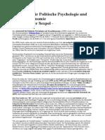 Zeitschrift Für Politische Psychologie Und Sexualökonomie