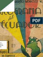 Geografía Del Ecuador - Luis Augusto Mendoza Moreira - 6ta Edición