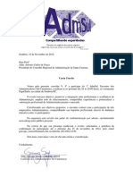Carta Convite ADM SUL