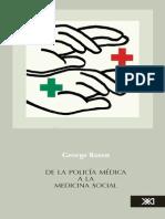 Rosen George 1974 - De la Policía Médica a la Medicina Social (Historia de la Atención a la Salud)