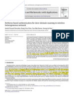 Kerberos based authentication for inter-domain roaming in wireless heterogeneous network