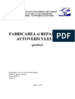 Proiect FABRICAREA SI REPARAREA AUTOMOBILELOR