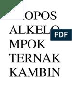 Proposalkelompok Ternak Kambingkarang Taruna Abysmakelurahan Kuripan Kecamatanpurwodadikabupaten Grobogan