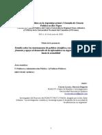 Estudio sobre los instrumentos de política científica y tecnológica para el fomento y apoyo al desarrollo de la informática en argentina desde 1955 hasta la actualidad