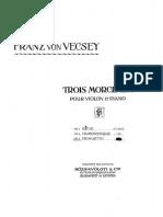 Vecsey - Morceux Nº 3 Minueto - Violin