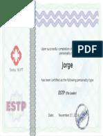 Certificado Informe de Personalidad