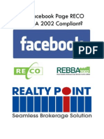 Is Your Facebook Profile RECO and REBBA 2002 Compliant?