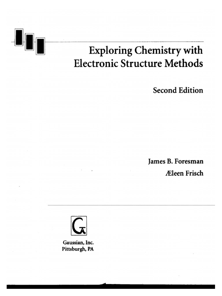 Ebook english gaussian inc exploring chemistry with electronic ebook english gaussian inc exploring chemistry with electronic structure methods computational chemistry electron configuration fandeluxe Gallery