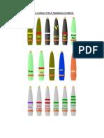 Ammunition Codes Couleurs FRA