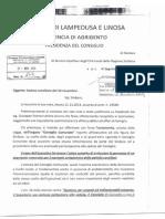 Risposta del Presidente Del Consiglio Errera al Sindaco Nicolini