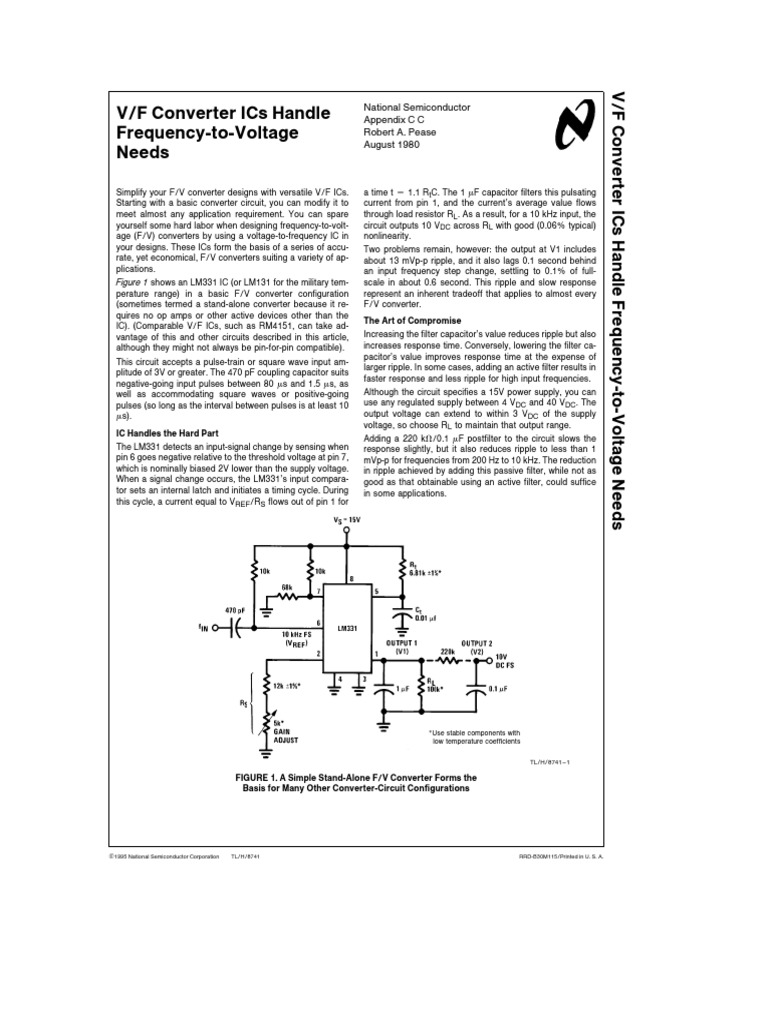 Lm331 Appnote Amplifier Operational Adding Hysteresis To A Comparator Circuit Basiccircuit