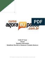 PDF AEP OAB2aFase DireitoPenal EspelhoSimuladoI EstefaniaRocha EmersonCasteloBranco