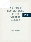 The Role of Ego-pronouns in the Creation Legend