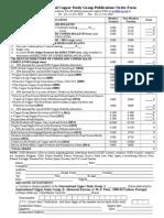 Publications Order Form