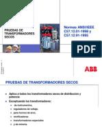 ANSI-IEC C57.12.01-C57.12.91 Pruebas Trafos Secos