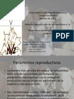Parámetros Reproductivos de diferentes especies