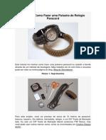 Tutorial – Como Fazer Uma Pulseira de Relógio Paracord