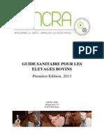 Guide sanitaire pour les élevages bovins - pour le vétérinaire et l'éleveur .pdf