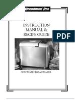Breadman Op Manual TR900s
