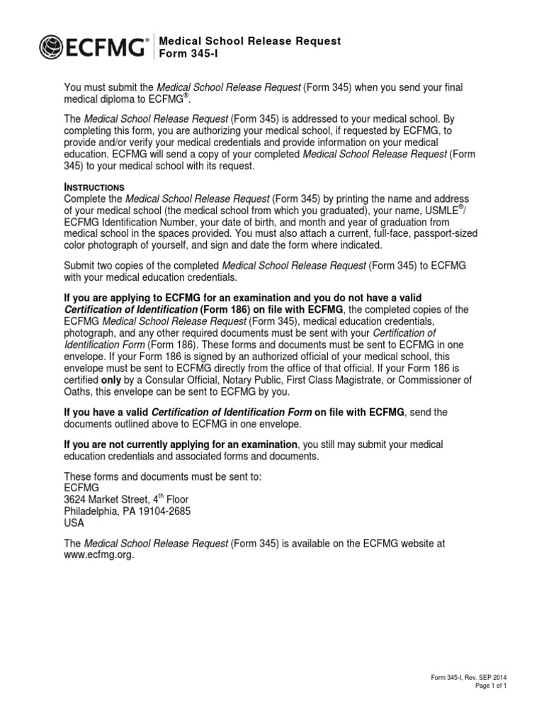 Form 345 document ecfmg credential identity document 1betcityfo Images