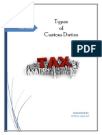 Types of Custom Duties