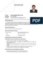 Irfan Curriculum Vitae as a Account