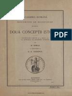 Două Concepţii Istorice- Nicolae Iorga