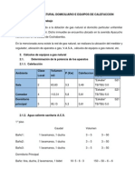 Calculos de Gas Natural Domiciliario e Equipos de Calefaccion