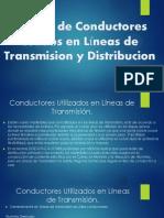 Estudio de Conductores Usados en Líneas de Transmision