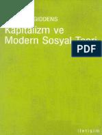 Anthony Giddens-Kapitalizm Ve Modern Sosyal Teori