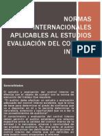 Normas Internacionales Aplicables Al Estudios Evaluación Del Control Final P