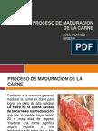 Proceso de Maduracion de La Carne