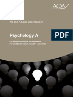 AQA GCE Psychology A Specification