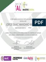 11. Certificado Ciudadanía Digital - Maestro Digital