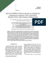Crude Glycerine to Form Xanthan