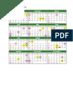 Lampiran Kalendar Tahun 2015