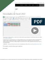 Novedades de Excel 2013