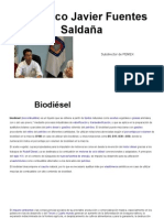Francisco Javier Fuentes Saldaña, Biotecnologías Sustentables