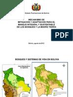 Bolivia Mecanismo Mitigacion y Adaptacion Para Manejo Integral