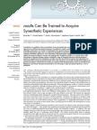 Synesthésie acquise entraînement