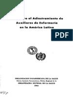 Guia Para El Adiestramiento de Auxiliares de Enfermería en América Latina