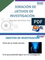 Objetivos de Investigación ( Diferente)