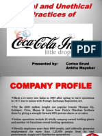 CocaCola Ethical vs Unethical