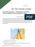 Coordinate Geometry - I (Rectangular Coordinate System) _ Blogs