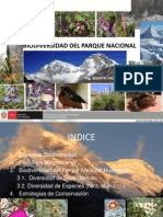 Biodiversidad Pn Huascaran 2010