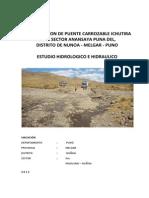 Estudios de Hidrolgia e Hidraulica