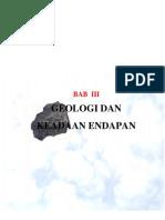 Geologi Dan Keadaan Endapan